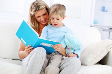 woman-teaching-son-to-read