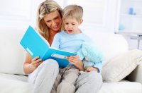 woman-teaching-son-to-read