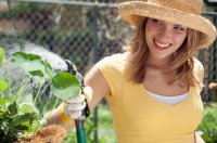 happy-woman-gardening
