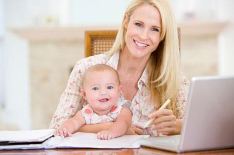 mum-working-with-baby