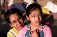 grandmother-granddaughter-india