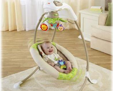 We Try Fisher Price Rainforest Friends Cradle N Swing