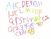 child-handwriting