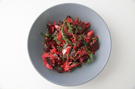 beet-lentil-salad