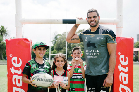 Colgate Has Kicked Off Its  Partnership With The South Sydney Rabbitohs This Year As First Grade Players Including Greg Inglis Issac Luke And George