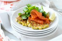 Ww sweet corn and coriander fritters