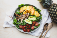 Teriyaki chicken and grilled pineapple salad - cover photo - motherpedia
