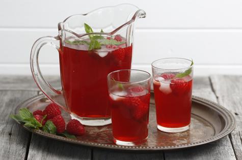 Raspberry iced tea cover
