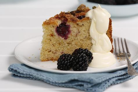 Blackberry yoghurt cover