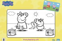 Peppa holiday colouring sept