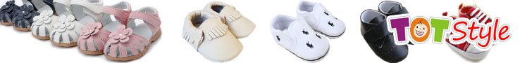 TotStyle Moccasins, Leather baby pre walker shoes